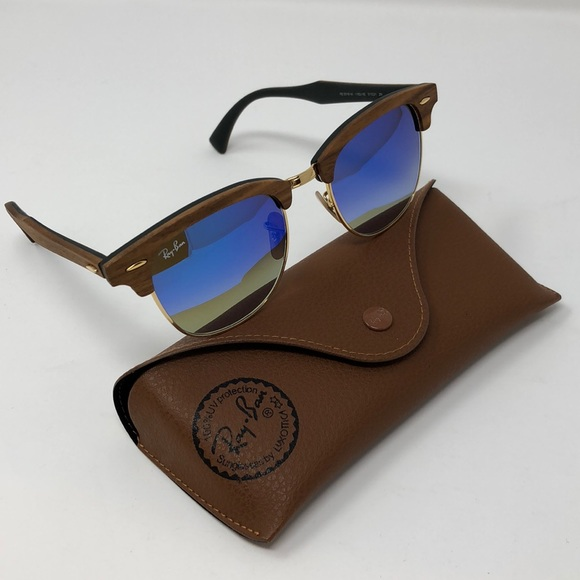 Ray-Ban Accessories | Rayban Clubmaster Wood Brown Frame Rb3016m ...